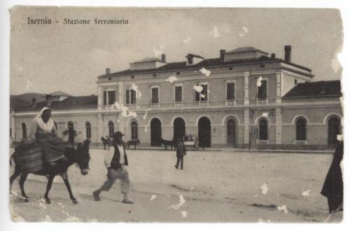 Isernia, stazione ferroviaria, primi anni del 1900
