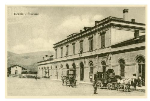 Isernia, stazione ferroviaria, 1920 circa
