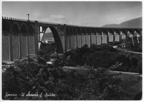 Isernia, 1960 circa, veduta viadotto Santo Spirito