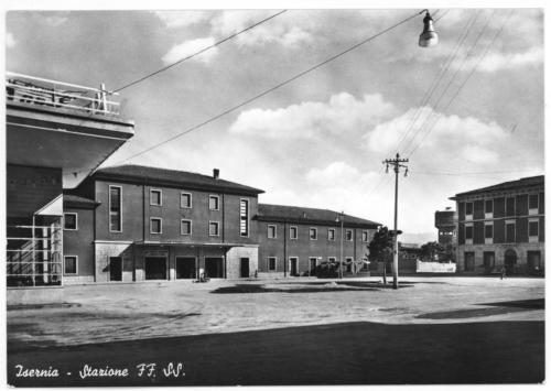 Isernia, stazione ferroviaria, anni 70
