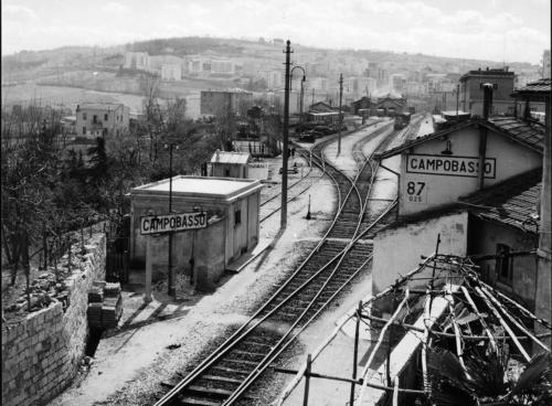 Campobasso, Anni 70, veduta Stazione lato Termoli