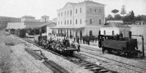 Campobasso, fine 800 Stazione in costruzione
