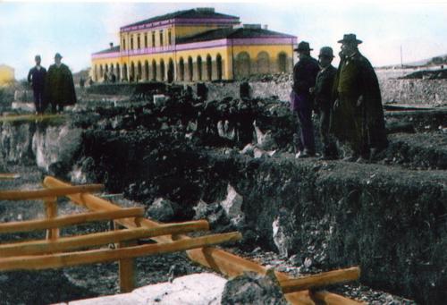 Isernia, 14 gen 1893 costruzione del deposito locomotive