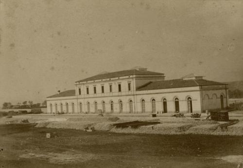 Isernia, 1893 circa, lato binari