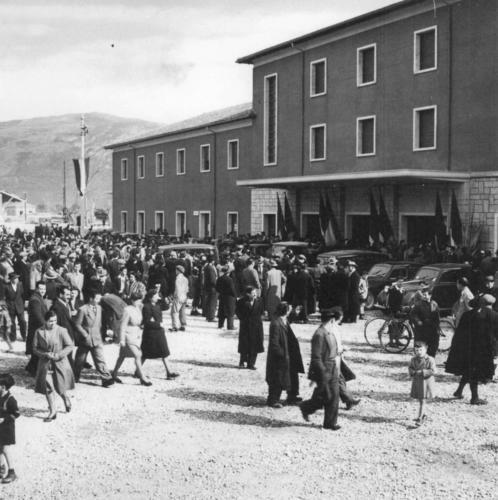 Isernia, 22 febbraio 1953. Inaugurazione della riapertura al traffico della linea Vairano-Isernia.