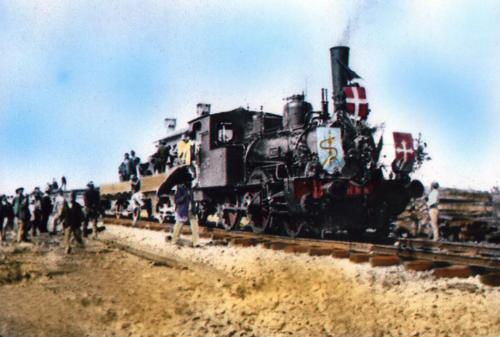 Isernia, 21 ago 1893 arrivo del primo treno