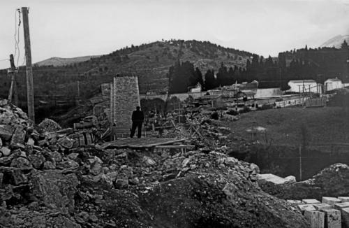 Isernia, viadotto Santo Spirito dopo il bombardamento del 10 settembre 1943