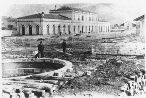Isernia, fine 800 stazione in costruzione lato binari