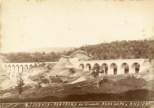 Isernia, 1893 circa, viadotti Ravacupa e Riccioni (foto D'Ambrosio e Schiavone)