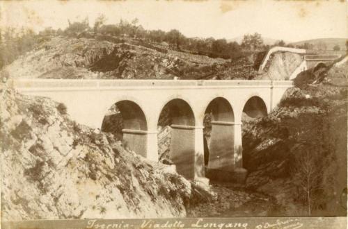 1893 circa, viadotto Longano (foto D'Ambrosio e Schiavone)