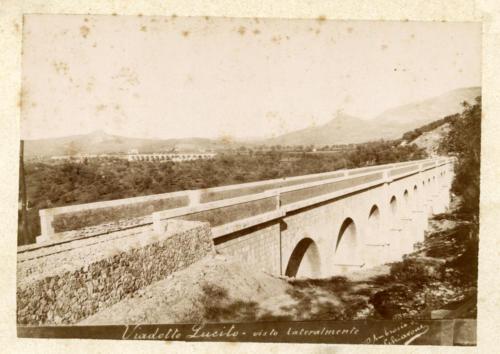 Isernia, 1893 circa, viadotto Lucito (foto D'Ambrosio e Schiavone)