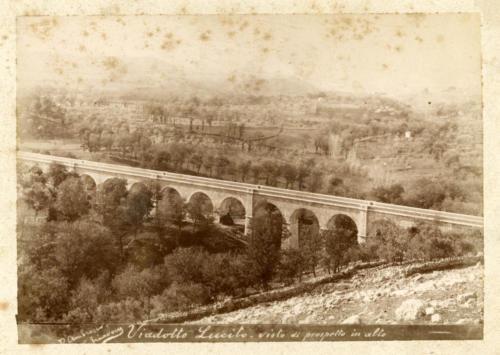 Isernia, 1893 circa, viadotto Lucito