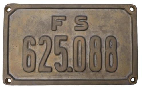 Targa lato destro locomotiva GR 625.088