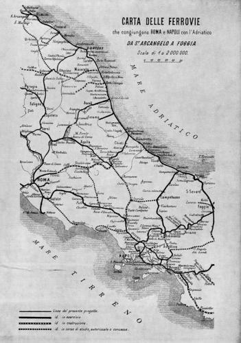 Carta delle Ferrovia, 1884
