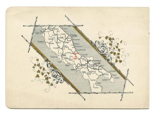 invito al viaggio inaugurale della ferrovia Sulmona-Isernia (retro)