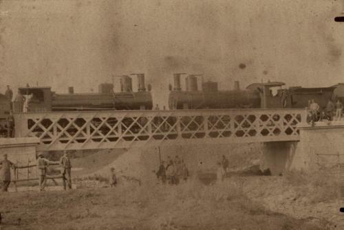 1893 circa, collaudo del ponte Papa (?) in territorio di Sant'Agapito