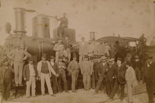 Sant'Agapito (?) probabilmente il giorno dell'inaugurazione della ferrovia Cajanello-Isernia 20 marzo 1894