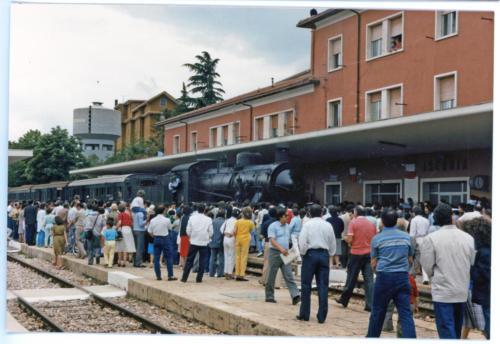 Isernia, stazione ferroviaria, Gr 740, 1986