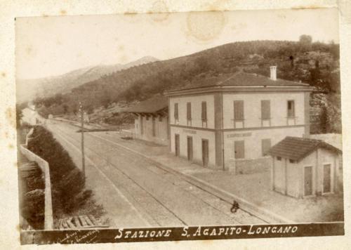santagapito_longano, 1893 circa, stazione in costruzione (foto D'Ambrosio e Schiavone)
