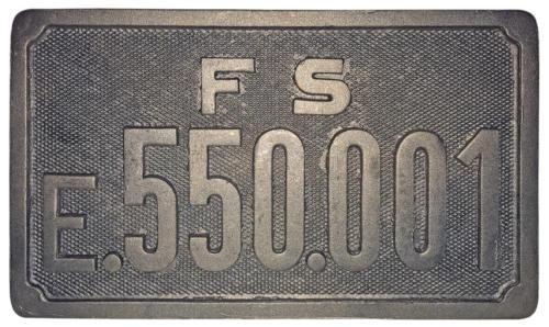 targa E 550 (riproduzione)